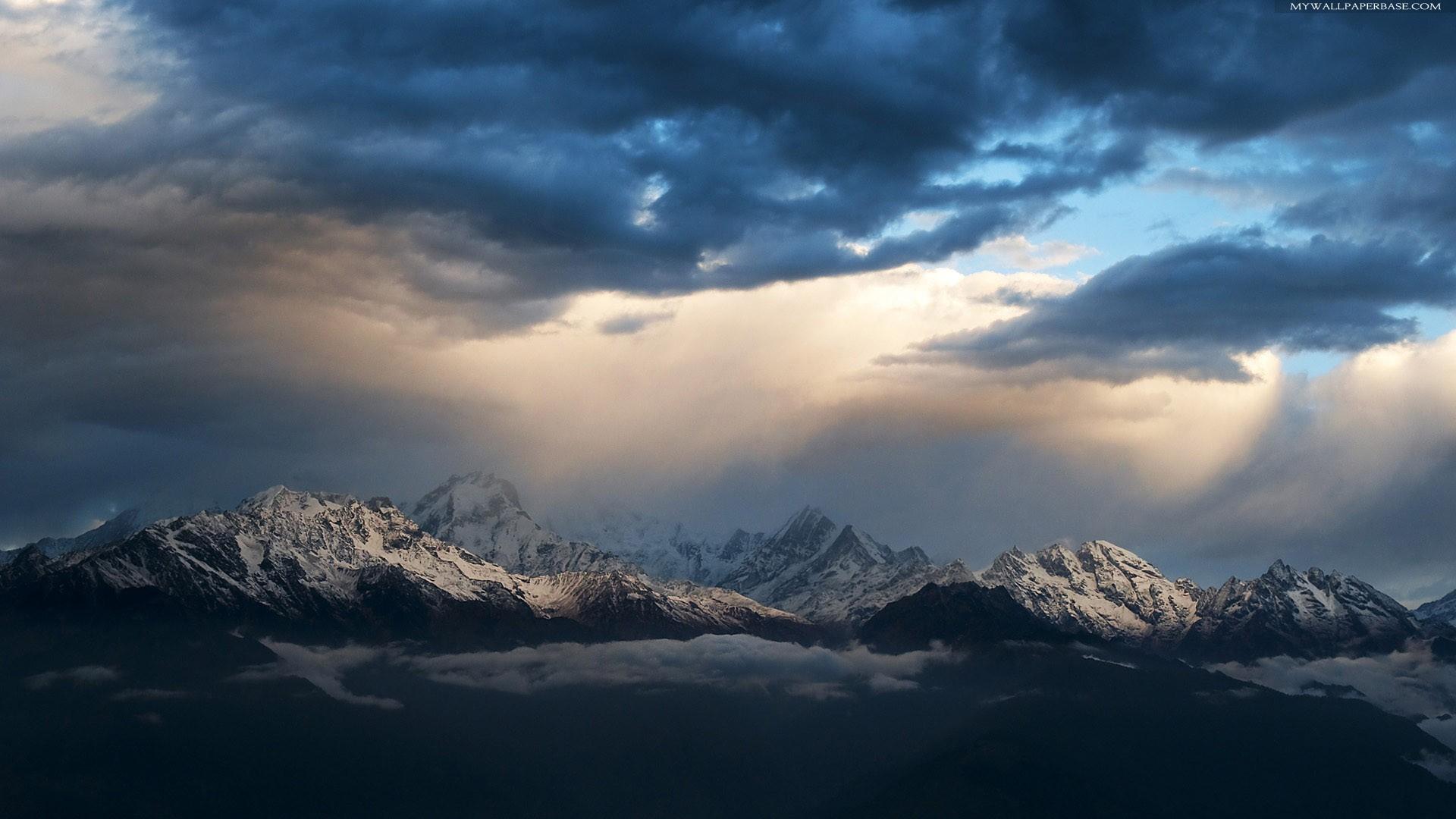mountains sky light clouds - photo #3